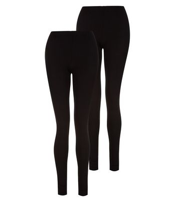 Tall – 2er-Pack schwarze Leggings