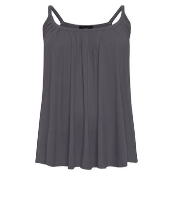 Curves Dark Grey Scoop Neck Cami