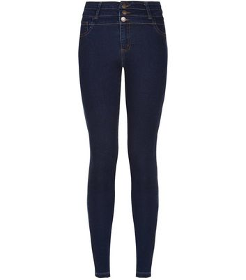 Dark Blue High Waisted Super Skinny Jeans