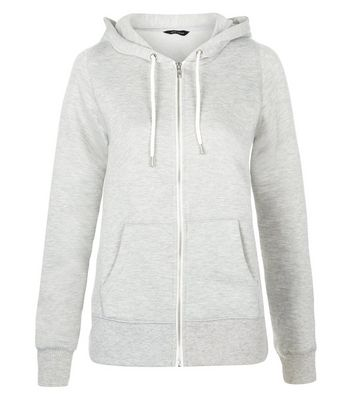 Grey Basic Zip Up Hoodie