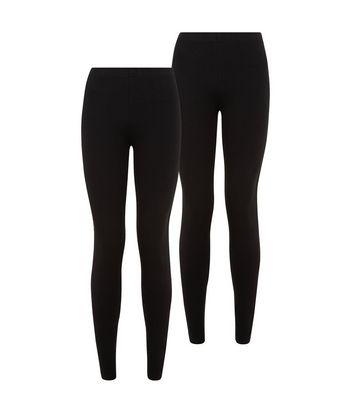 Petite 2 Pack Black Leggings