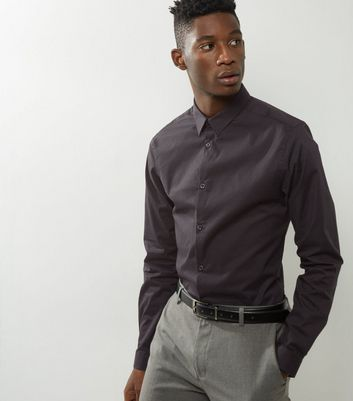 Black Stretch Super Slim Fit Long Sleeve Shirt