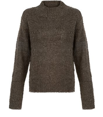 JDY Khaki High Neck Knit Jumper