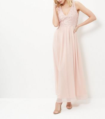 AX Paris Cream Lace Panel Maxi Dress