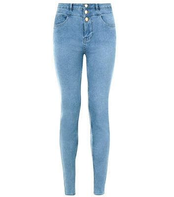 Pale Blue High Waist Super Skinny Jeans