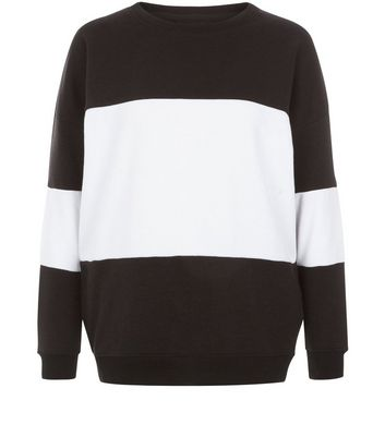 Black Colour Block Sweater