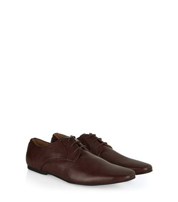 Dark Brown Lace Up Gibson Shoes