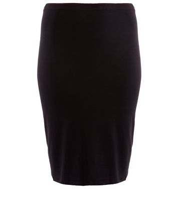 Curves Black Pencil Skirt