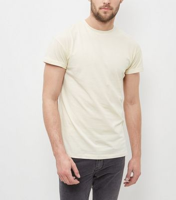 Light Yellow Roll Sleeve T-Shirt