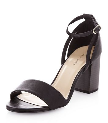New Look Ankle Tie Block Heeled Sandals eWFd8IT