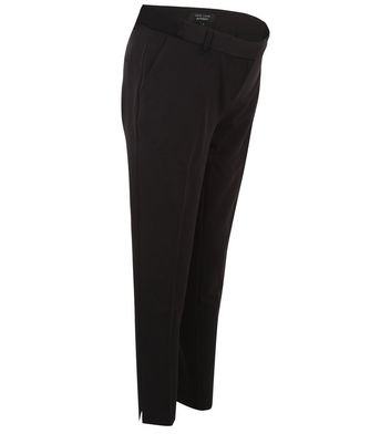 Maternity Black Under Bump Pleat Front Trousers