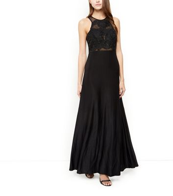 AX Paris Black Crochet Top Maxi Dress