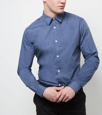 Blue Long Sleeve Cross Dye Shirt