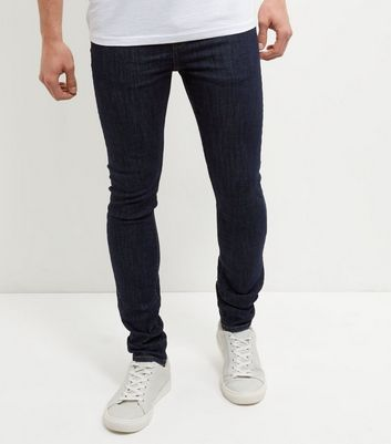 Navy Rinse Washed Skinny Jeans