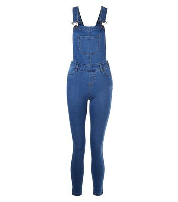 Teens Navy Pocket Front Dungarees