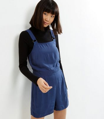 Blue Sleeveless Pinafore Playsuit