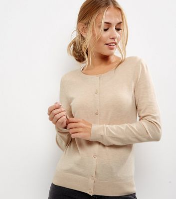 Light Brown Long Sleeve Cardigan