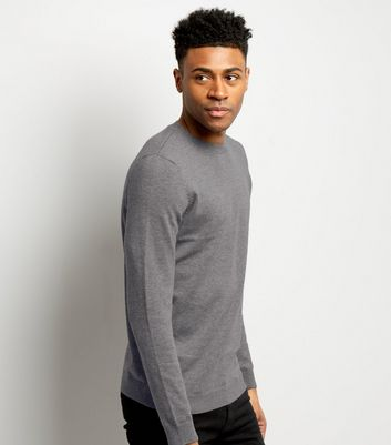 Grey Crew Neck Long Sleeve Top