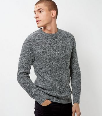 Black Twist Textured Jumper
