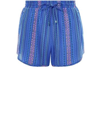 Blue Stripe Runner Shorts