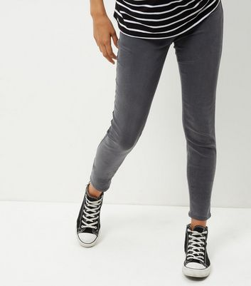 Maternity Grey Over Bump Jeggings