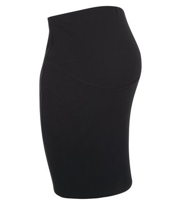 Maternity Black Over Bump Pencil Skirt