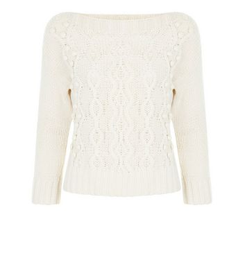 Apricot Cream Cable Knit Jumper
