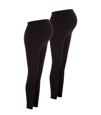 Lot de 2 leggings de maternité noirs