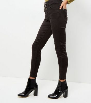 Tall 38in Black High Waisted Skinny Jeans