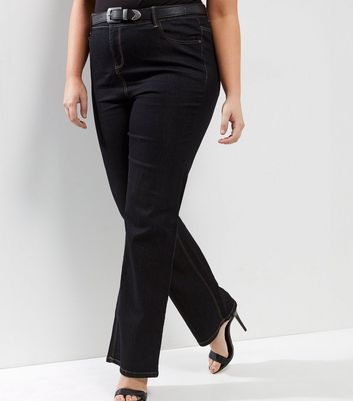 Curves Navy Bootcut Jeans