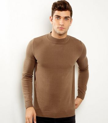 Stone Cotton Turtle Neck Jumper