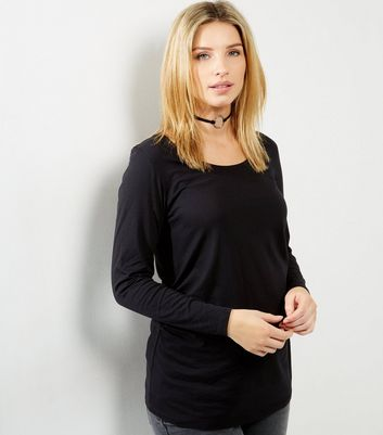 Maternity Black Long Sleeve Top