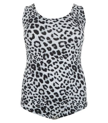 Curves Black Animal Print Bodysuit