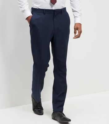 Blue Regular Suit Trousers