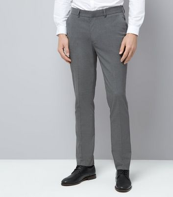 Grey Slim Fit Suit Trousers