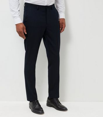 Pantalon de costume bleu coupe slim