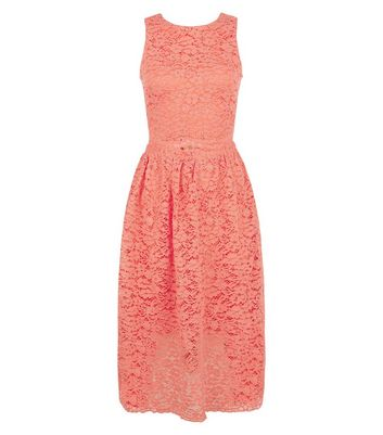 AX Paris Coral Lace Midi Dress