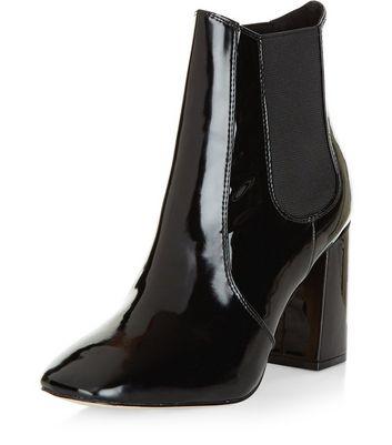 Boots vernies à talon Noir Swb15nX