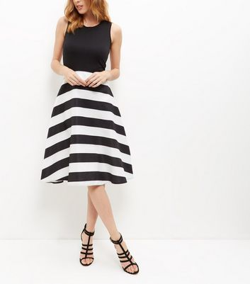 AX Paris Black Stripe 2 in 1 Dress
