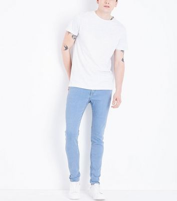 Pale Blue Light Washed Super Skinny Jeans