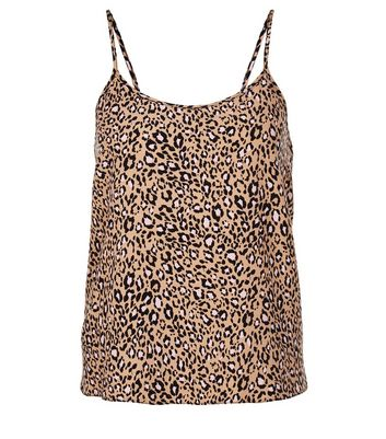 Teens Brown Leopard Print Cami