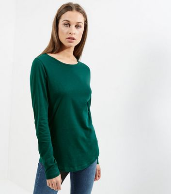 Tall Green Long Sleeve Crew Neck T-Shirt