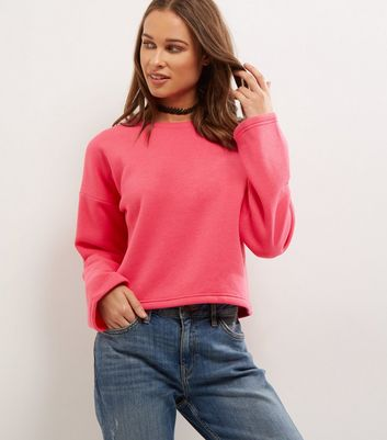 Bright Pink Wide Sleeve Sweater