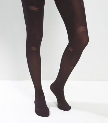Black Star Pattern Tights