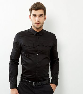 Black Long Sleeve Western Shirt