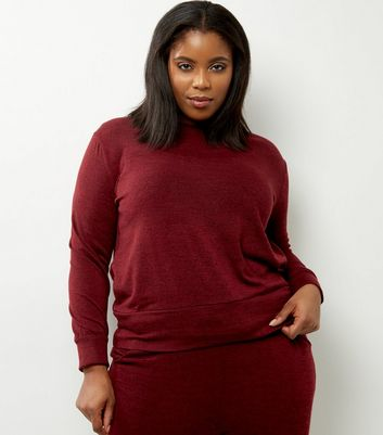 Curves - Top bordeaux en fine maille