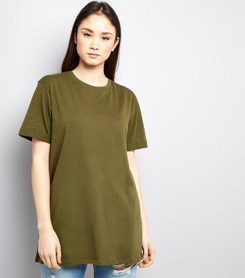 Tall Khaki Rolled Sleeve Boyfriend T-shirt