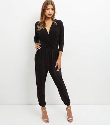 Mela Black V Neck Jumpsuit