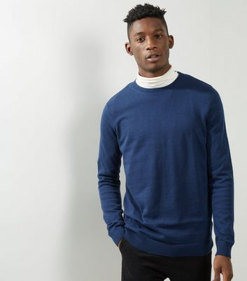 Navy Crew Neck Long Sleeve Sweater
