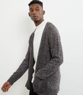 Brown Twist Double Pocket Cardigan
